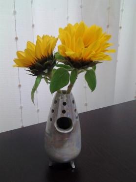 ひまわりの花瓶