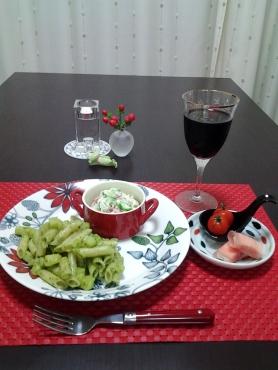 ジェノベーゼペンネとおからサラダ