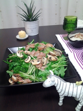 杏ちゃんの水菜サラダ