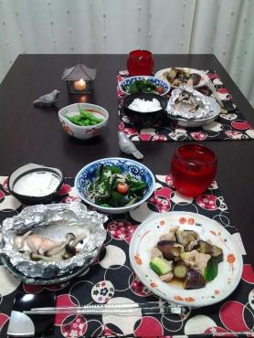 鮭のホイル焼きで晩ごはん