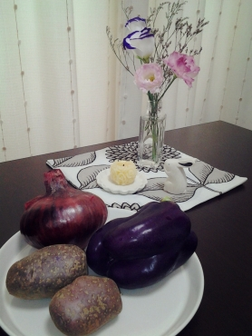 紫色の野菜達