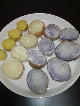 三種のジャガイモ