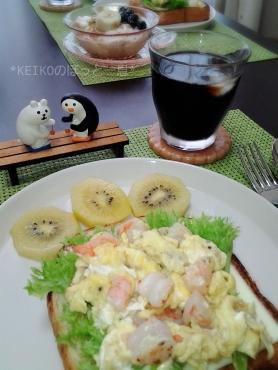 エビとたまご☆厚切り食パンのオープンサンド3