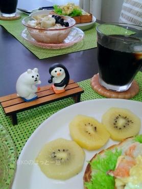 エビとたまご☆厚切り食パンのオープンサンド4