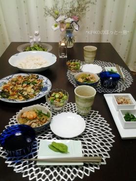 チヂミと素麺の晩ごはん