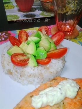 アボカドとトマトのデコ寿司