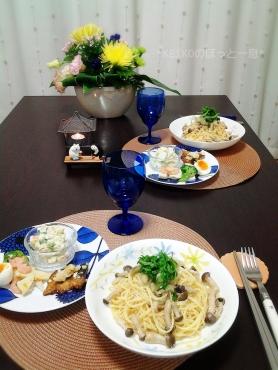 タラコパスタとお総菜2