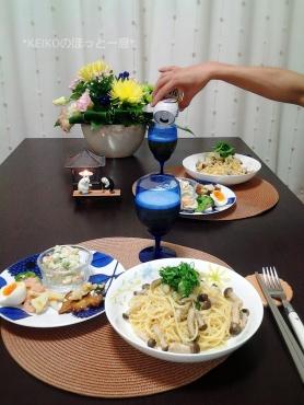 タラコパスタとお総菜4