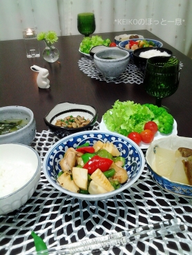 鶏肉とピーマンと筍の中華風炒めもの