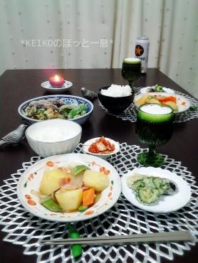 肉じゃがと野菜の天ぷら