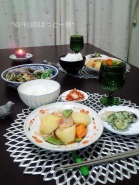 肉じゃがと野菜の天ぷら2
