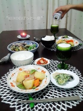 肉じゃがと野菜の天ぷら3