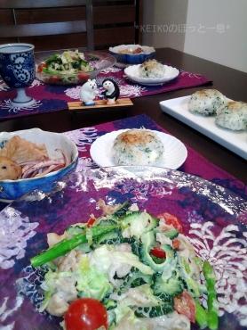 ゴーヤと豚肉のサラダと線香花火ペア