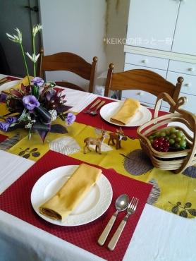 旬を味わう秋のテーブルコーディネート2