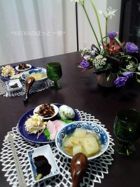 冬瓜と子エビの煮物で晩ごはん2