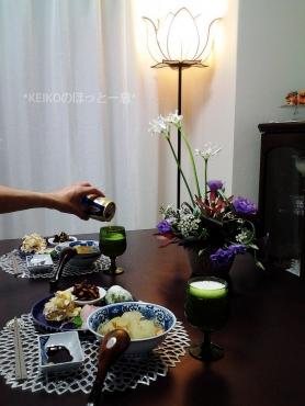 冬瓜と子エビの煮物で晩ごはん4
