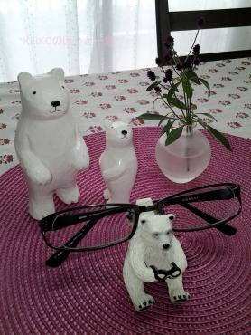 メガネおんぶのクマさん