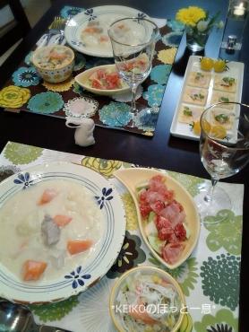 クリームシチューと無花果のサラダ4