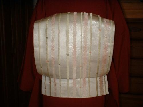京袋帯*白