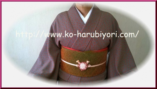 レース編みの帯留