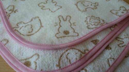 手作りベビー用タオル