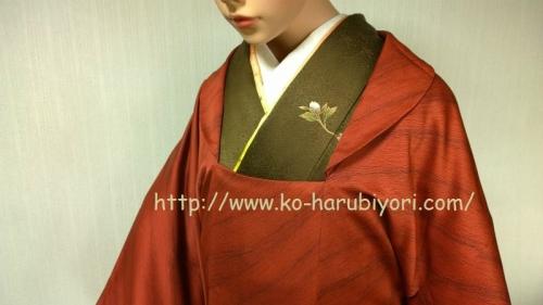 被布衿のコート(着尺から)
