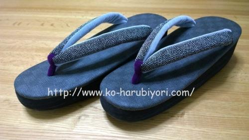 菱屋カレンブロッソ:市松に紫のツボ