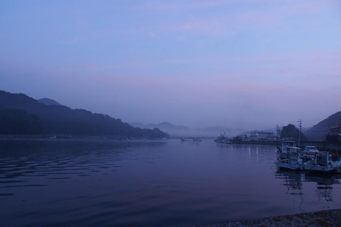 朝の湾 1