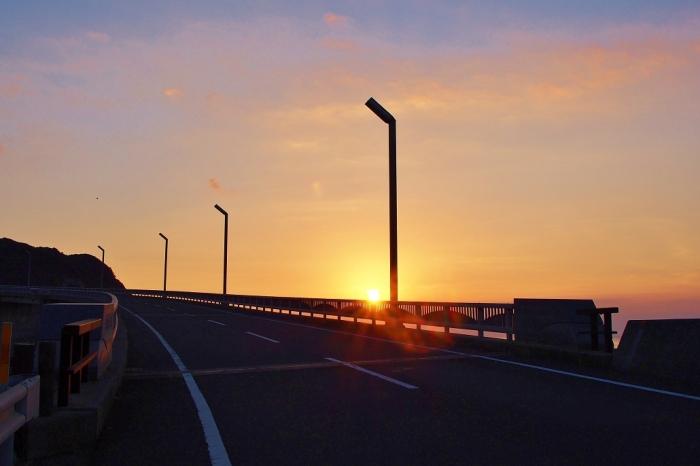 大明神橋の夕景 1