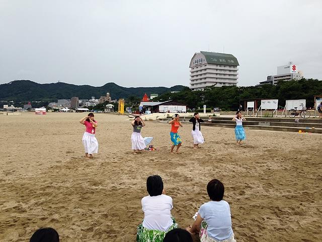 2014.8.3 モーニングフラレッスン@須磨ビーチ♪ 今年2回目の参加でしたヽ(^o^)丿