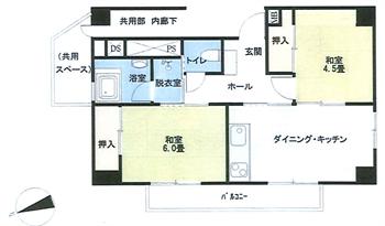 目黒ハイホーム8階部分間取り図_R