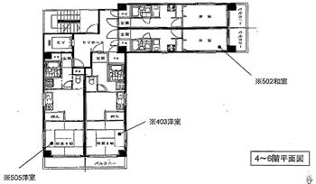 サンテラス木場4F~6F平面図_R