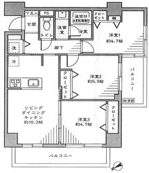 コアシティ大森502号間取り図_R
