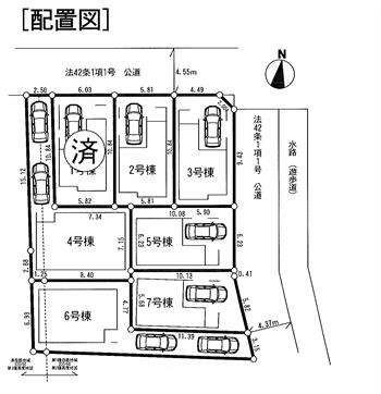 山王4丁目新築戸建配置図_R