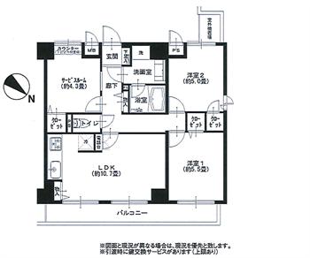 クレッセント中目黒506号間取り図_R