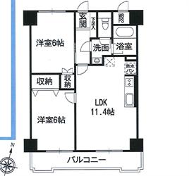 藤和大森コープ706号間取り図_R