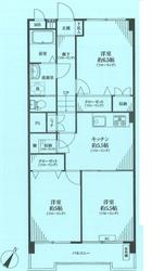 南馬込ヒミコマンション3階部分間取り図2_R