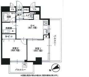 ハイラーク五反田605号間取り図_R