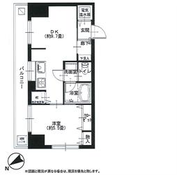 マンション五反田401号間取り図_R