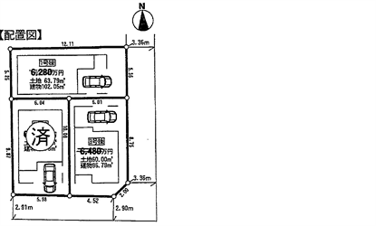 中延3丁目新築戸建配置図_R (2)