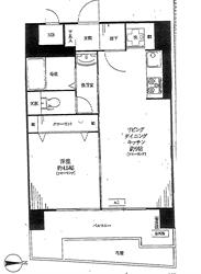 パラスト島津山1階部分間取り図_R