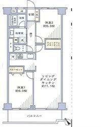 大井町ハウス403号間取り図_R