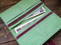 ライトグリーン長財布2