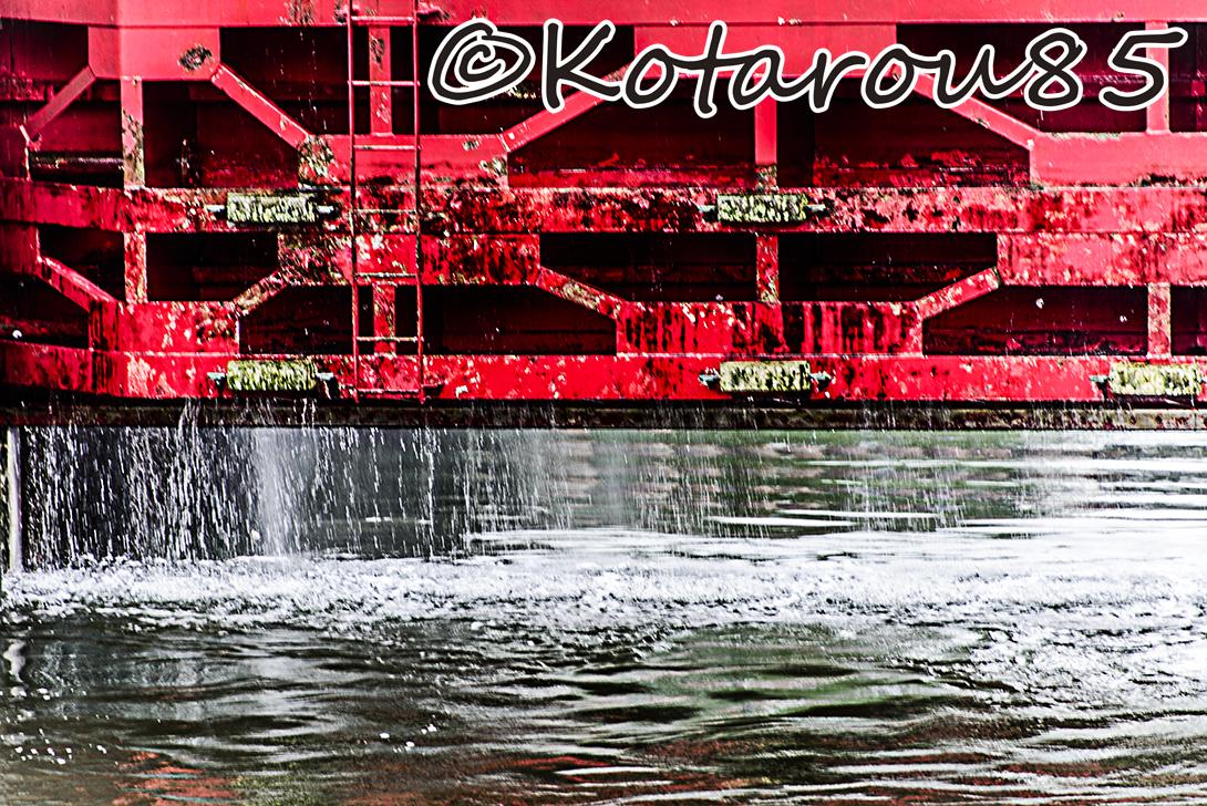 扇橋閘門 水しぶき1 20140810
