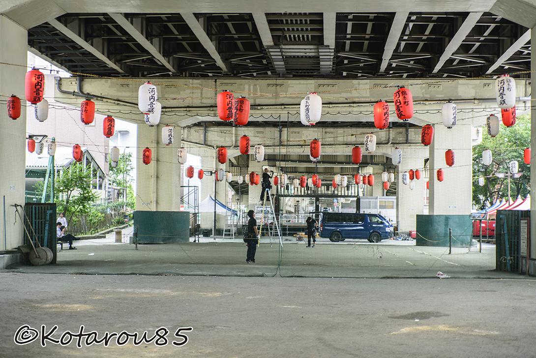 錦糸町 河内音頭 会場  20140827