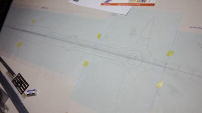 W様 はぐれメタルの剣 設計図