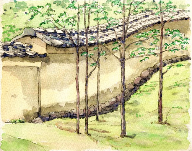 金閣寺の境内 (650x513)
