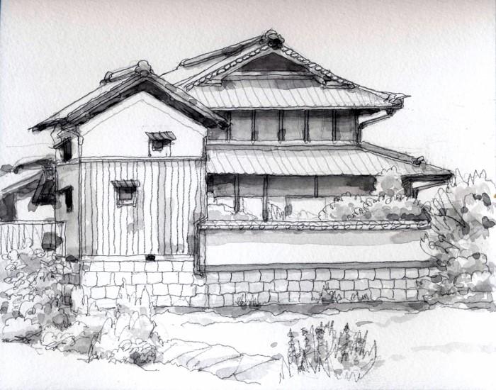 寝屋川市の旧家 グリサイユ (700x550)