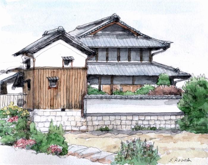 寝屋川市の旧家 (700x553)