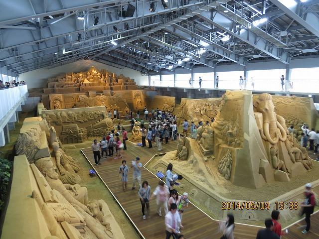 IMG_9435●砂の美術館展示全景です